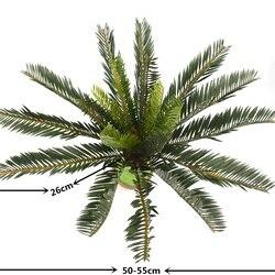 Новое искусственное пальмовое дерево зеленый лист завод пластиковый горшок бонсай Листва семейный сад свадебное украшение зеленый пояс украшение Использование