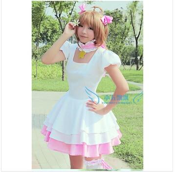 Cardcaptor Sakura KINOMOTO SAKURA cosplay costume lolita punk girls custom any size