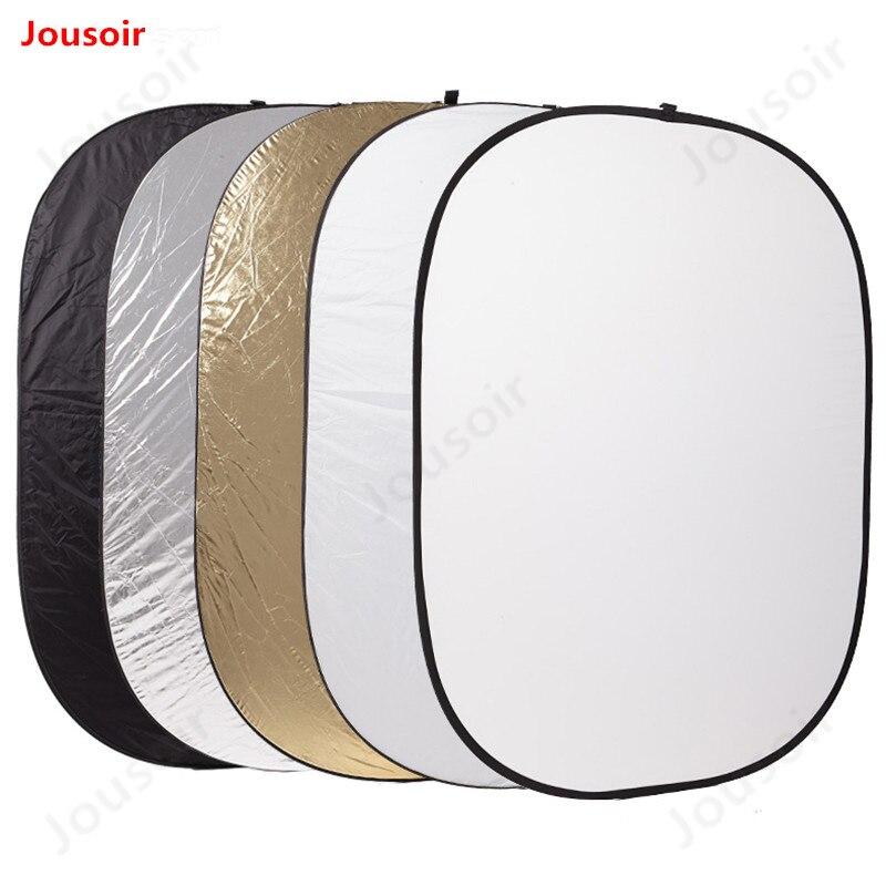150*200cm reflector de luz suave cinco en uno con bolsa portátil fotografía Placa de relleno de lámina reflectiva de alta calidad CD50 T02