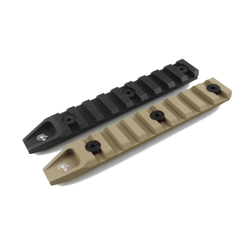 Тактические 9 слотов 20 мм рельсовая панель для KeyMod URX 4 Handguard страйкбольного крепления
