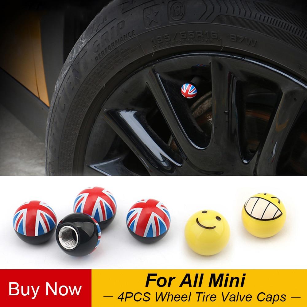 Capuches de Valve pour Mini Cooper JCW One S   Accessoires de style de voiture, roues automobiles, 4 pièces