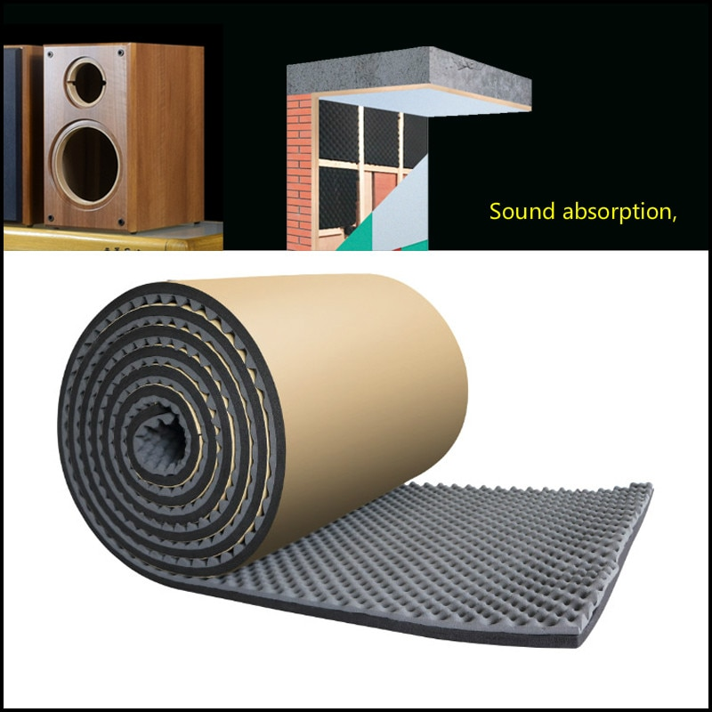 GHXAMP 0.2M * 1 מטר קול קליטת עבור רמקול כותנה מדף ספרים בס בית תיאטרון גל כותנה דביק אבזרים