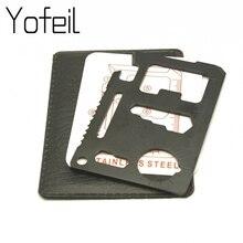 Outil de poche Couteau de carte de crédit 11 en 1 Portable Camping en plein air Survie Multi-outils Autodéfense Armes Equipement Tourisme