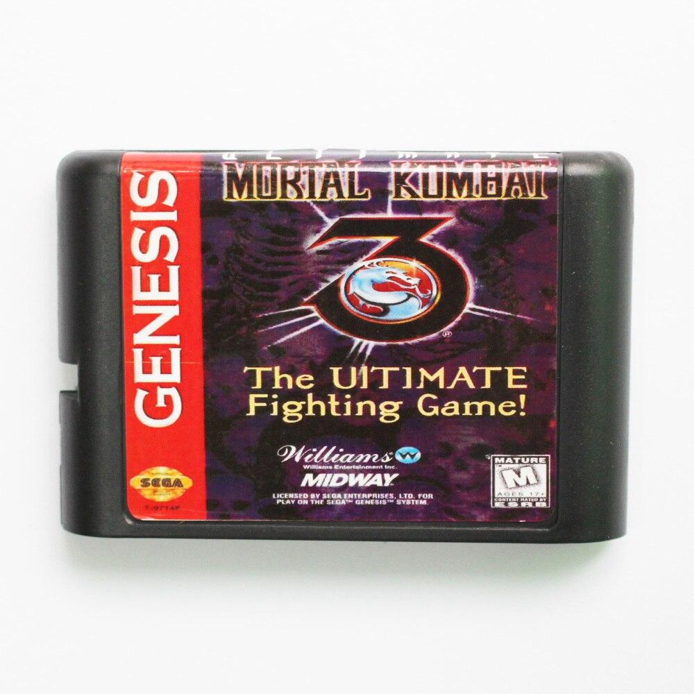 Mortal Kombat 3 The Ultimate Fighting Game Game Cartridge Newest 16 bit Game Card For Sega Mega Drive / Genesis System