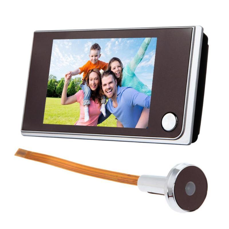 Timbre de puerta Digital de 3,5 pulgadas con pantalla LCD a Color, Visor de mirilla de 120 grados, timbre de puerta exterior con ojo de la puerta
