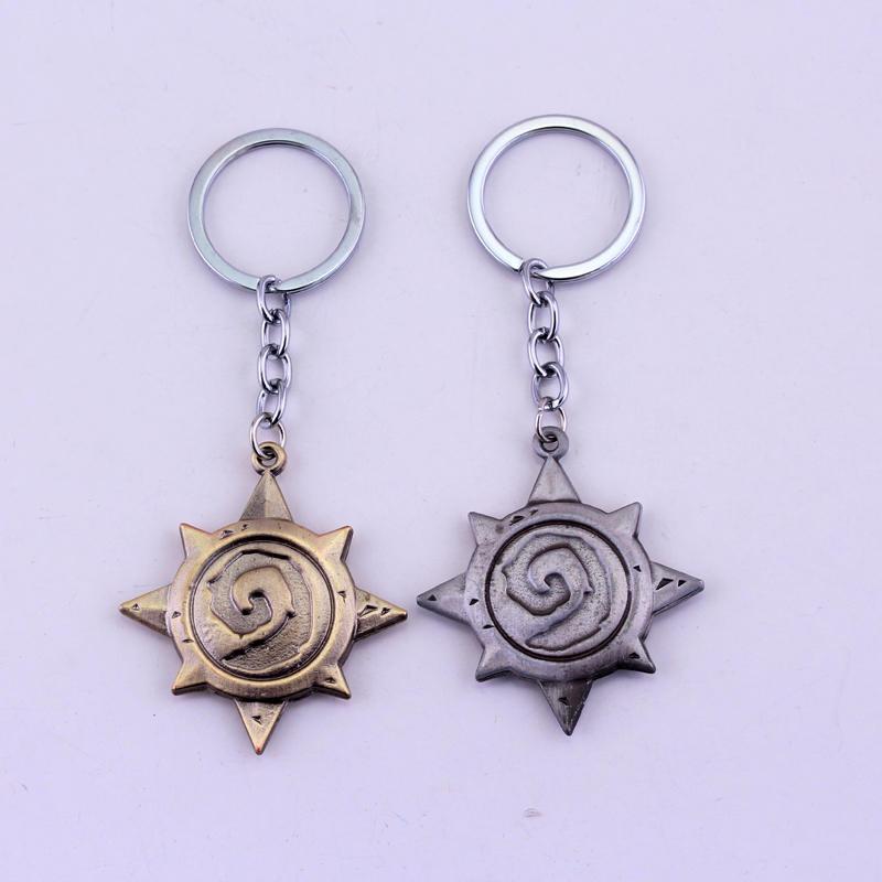 Dongsheng série de jogos hearthstone heróis de guerra artesanato heróis metal chaveiro para fãs legal chaveiro masculino jóias-50