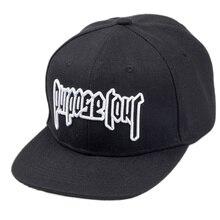 Objectif casquette Tour casquette de Baseball 3D brodée   Tout nouveau Style Justin Bieber, chapeau de haute rue, casquette de Fans noirs, casquette de Hip-Hop pour hommes et femmes