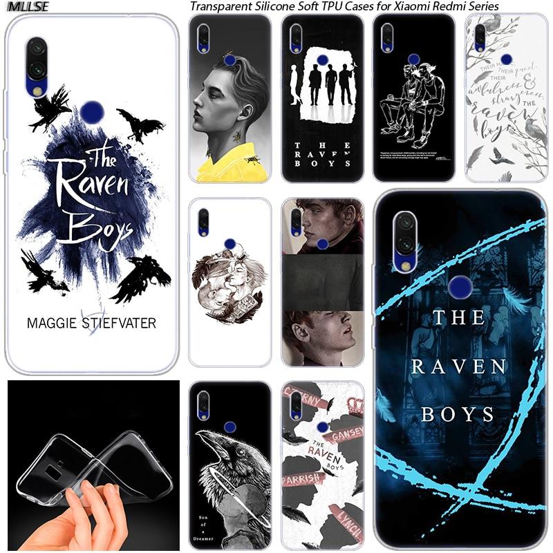 Hot The Raven Boys Soft Silicone Case for Xiaomi Redmi K20 7 7A 5 5Plus 6 6A S2 Note 8 7 6 5 Pro Fashion Cover