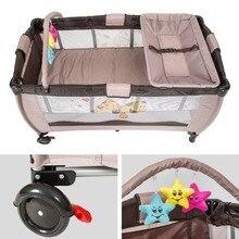Lit bébé literie voyage lit enfant portable lit extérieur multi-fonction voyage portable bébé mauvais pliant bébés petit jeu lit HWC