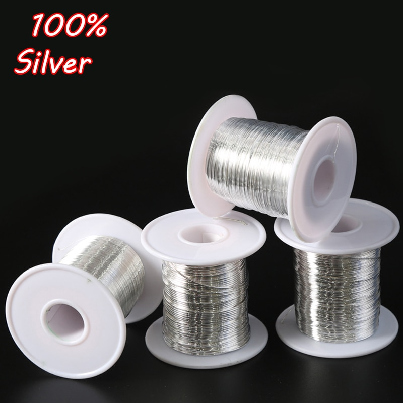 aliexpress.com - 1 Meter 925 Sterling Silver Wire Line Jewelry Making Findings & Component DIY Necklace Bracelet Earring Accessories Wholesale