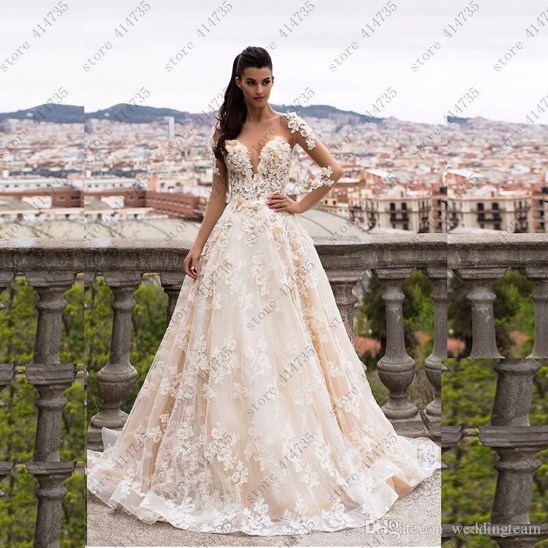 Vestidos de novia baratos con envío gratis 2019 lujoso lazo de vestido...