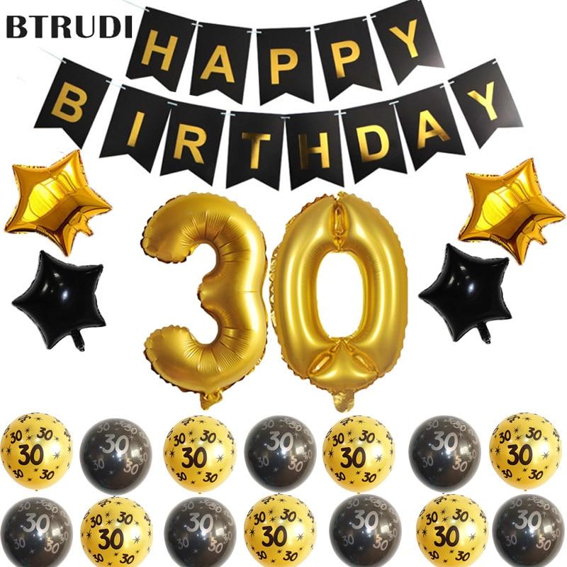 BTRUDI 1 Juego de 40 pulgadas 30,40 años adornos para fiesta de cumpleaños en la decoración de fondo de pared de vacaciones familiares