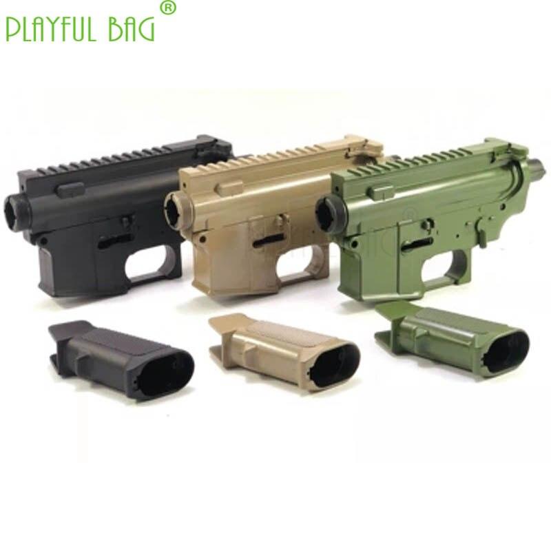 Bolso juguetón al aire libre CS DIY personalizado colorido jinming gen9 caja de onda de nylon carcasa M4 pistola de balas de agua accesorios OA97