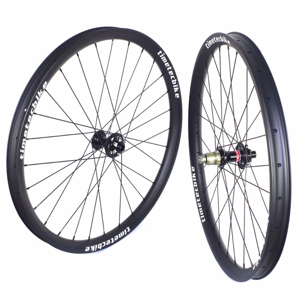 29ER MTB ruedas de carbono 40MM de ancho 30MM de profundidad BOOST MTB juego de ruedas de carbono sin cámara de carbono ruedas de bicicleta de montaña 29ER