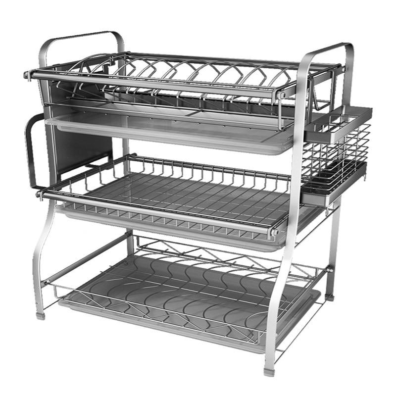304 Steel Dish Rack Kitchen Racks Dry Dishes and Chopsticks Supplies Storage Box Drain Bowl Shelf Dish Rack Drain