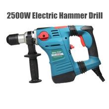 2500 W marteau électrique perceuse pierre ciseau mur briques professionnel Machine à sous brise-lames hydraulique outil (avec 5 Dills)