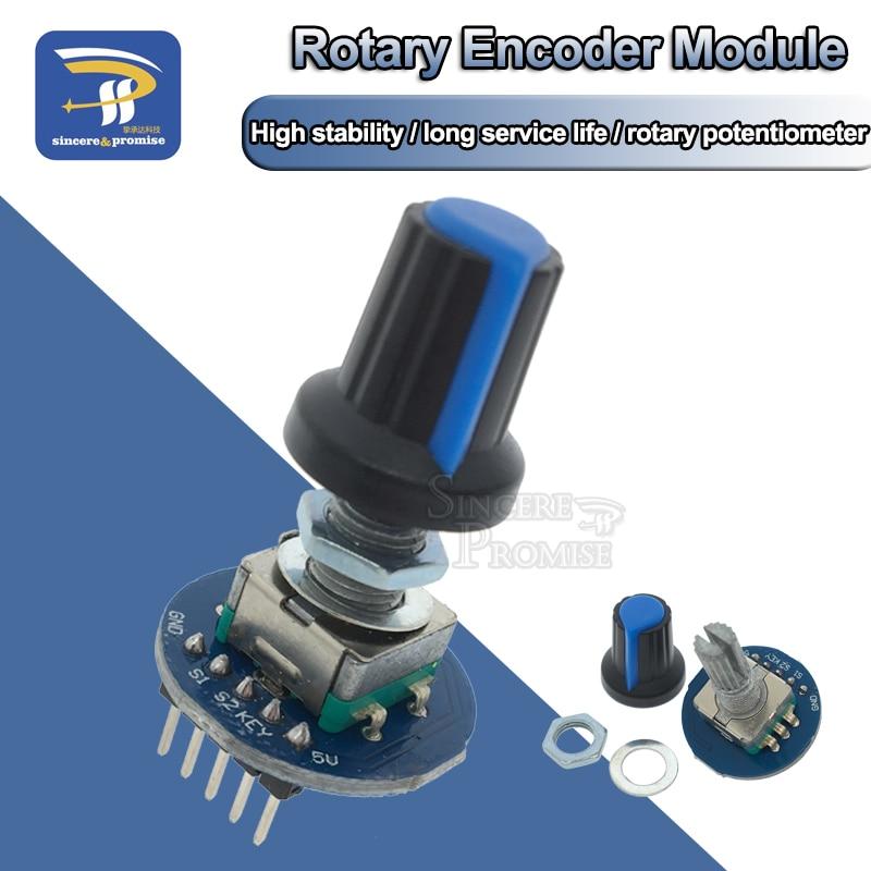 Вращающийся регулятор потенциометра колпачок модуль цифрового управления поворотный контроллер-кодировщик 5 В Diy Kit EC11 для Arduino PCB Board