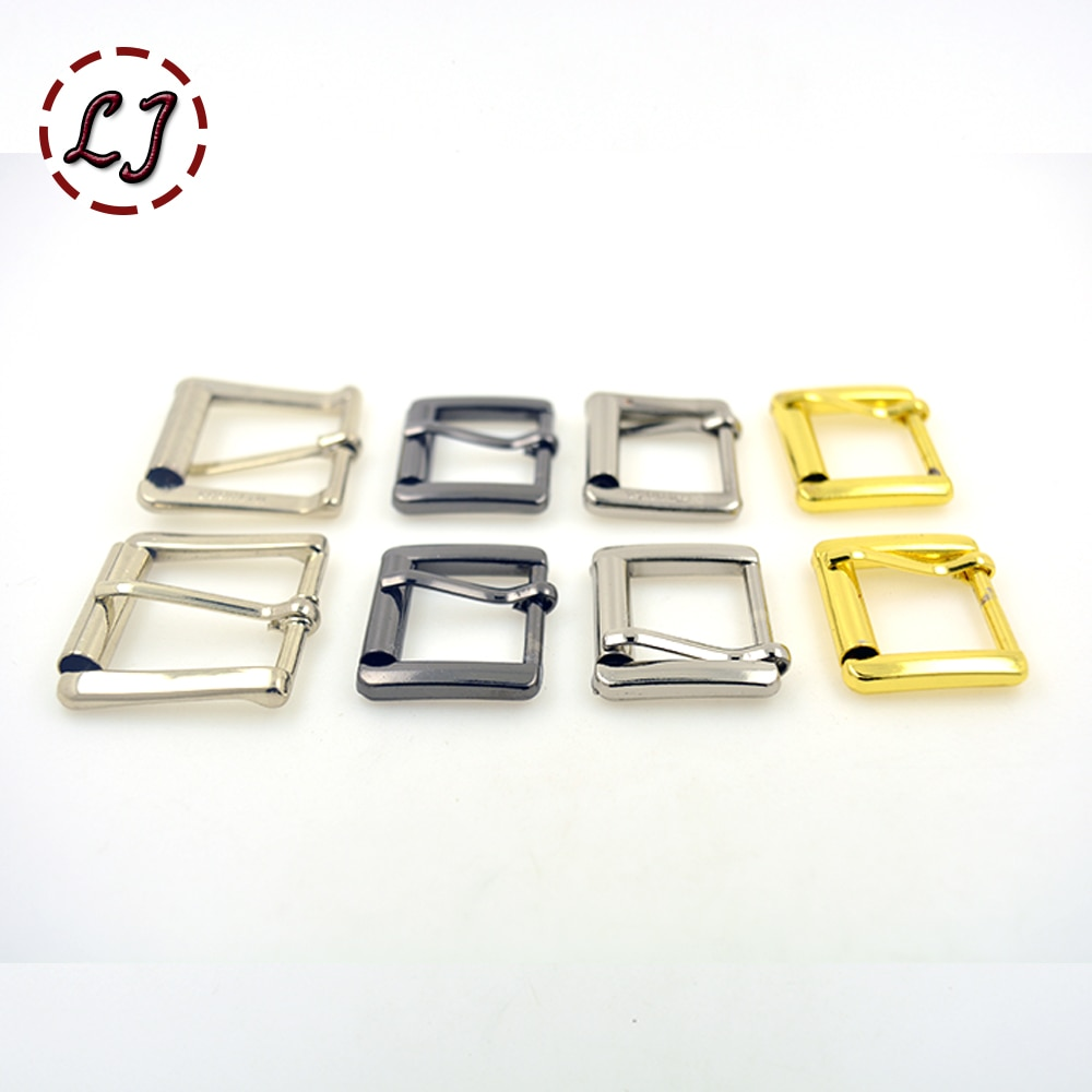 New chegou alta qualidade 10 pçs/lote 23mm 20mm liga de prata ouro preto quadrado sacos de sapatos Fivelas de Cinto de metal DIY Acessório de Costura