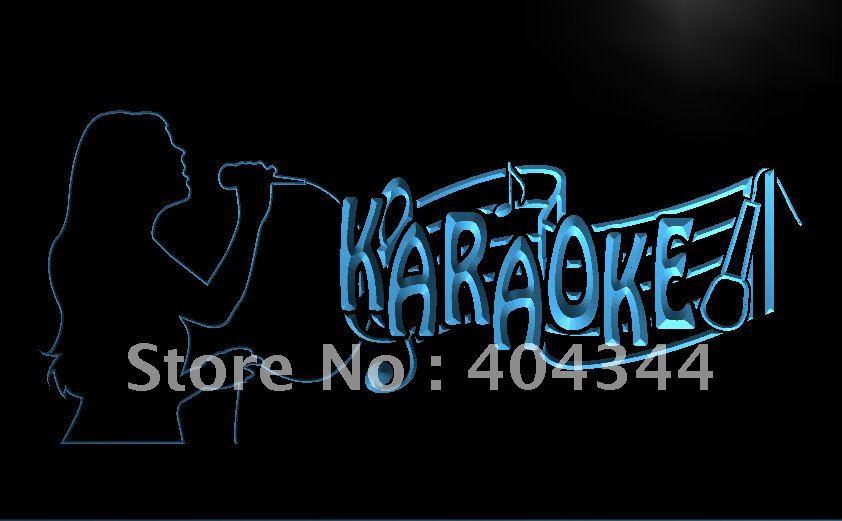 LB843- Karaoke Singing Lady Display Bar   LED Neon Light Sign   home decor  crafts