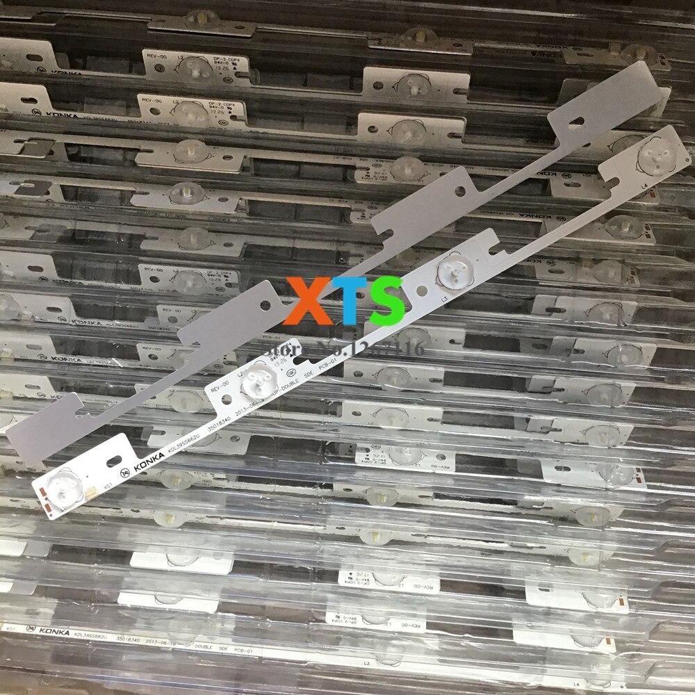 O envio gratuito de 200 pçs/lote led iluminação gancho para konka kdl39ss662u 35018339 327 mm 4 leds (1 led 6 v) alta qualidade novo