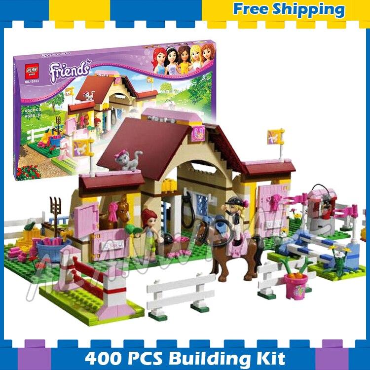 400 Uds Heartlake Lego Amigos de la ciudad de establos Mia granja caballo MODELO DE 10163 bloques de construcción montar los niños regalo Compatible con Lago