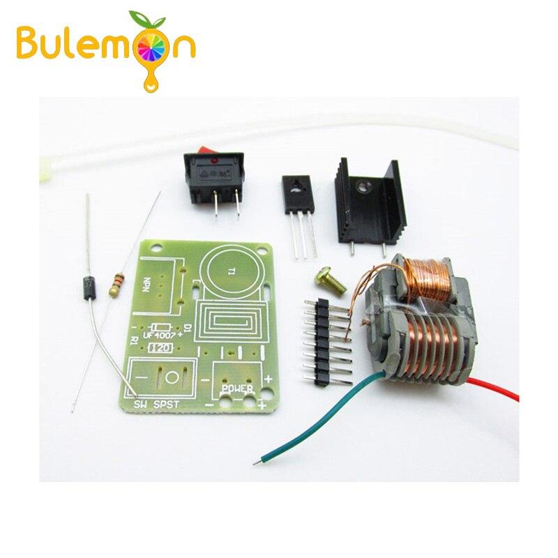 5 unids/lote 15KV alta frecuencia DC alta arco de voltaje generador de ignición inversor Boost Transformer 3,7 V DIY Kit