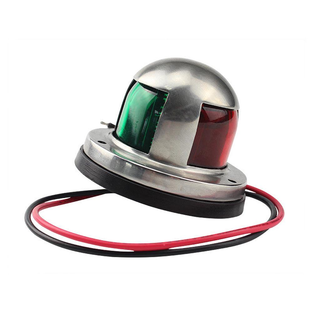 Barco de 12V de acero inoxidable, yate marino, navegación, arco verde, rojo, luz con señal de advertencia, lámpara LED