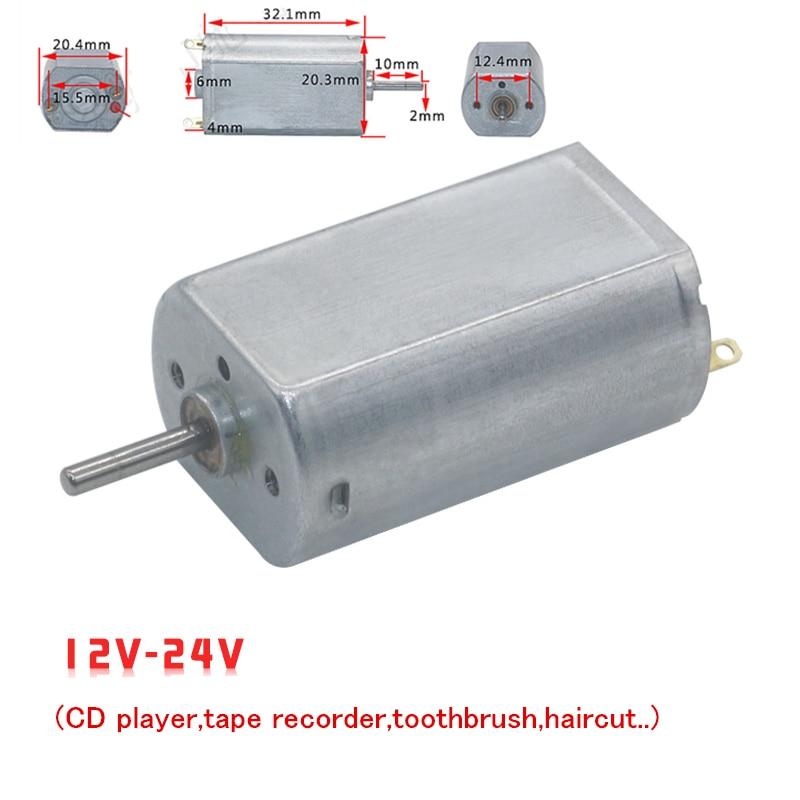 Moteur électrique bricolage intelligent 12V 24V cc   Voiture jouet intelligent, bricolage, lecteur CD, enregistreur de bande, brosse à dents, coupe de cheveux