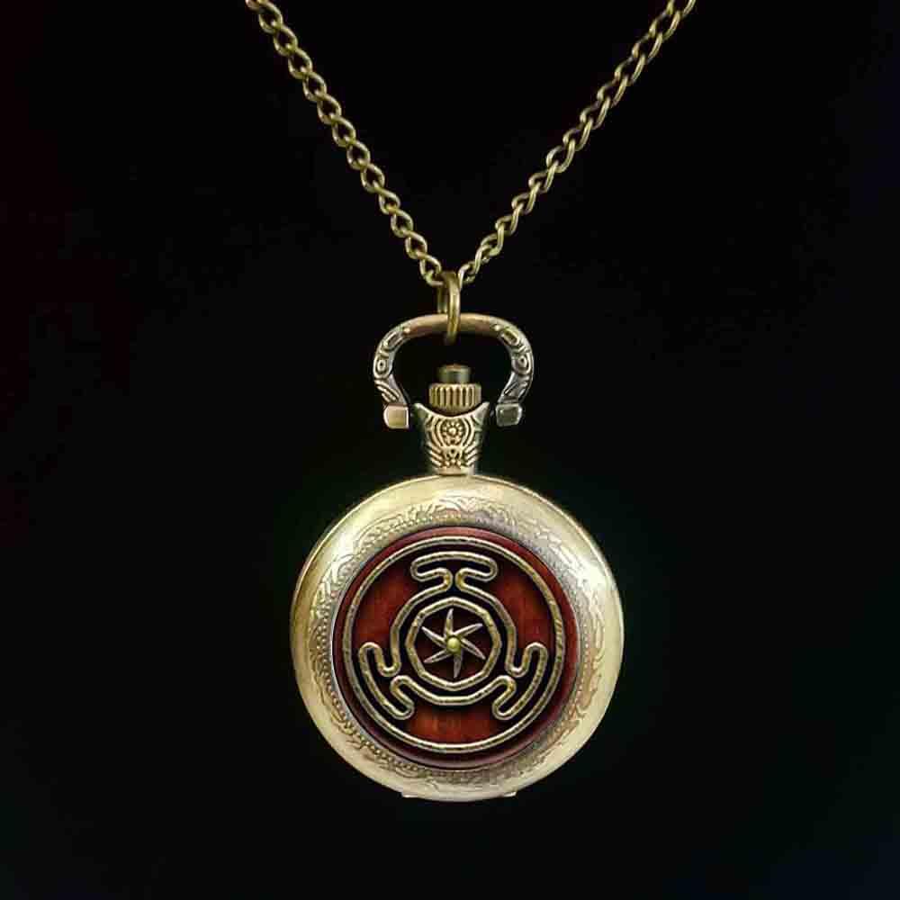 1pcs Wheel of Hecate Symbol jewelry Glass Cabochon pocket watch
