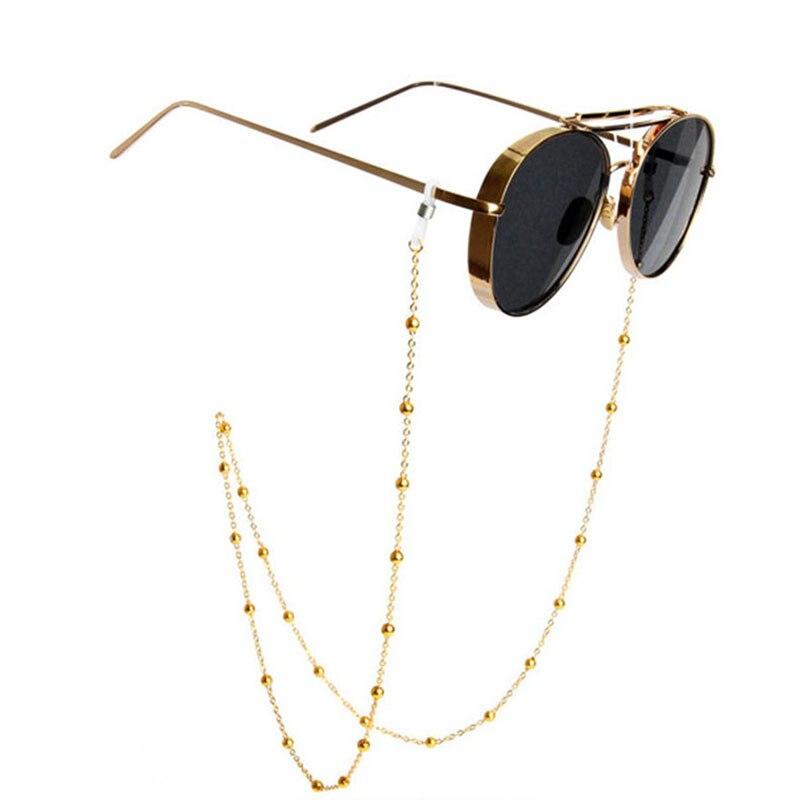 SO & EI mode or argent perles lunettes chaîne chaîne en métal lunettes de soleil anti-dérapant chaîne lunettes corde