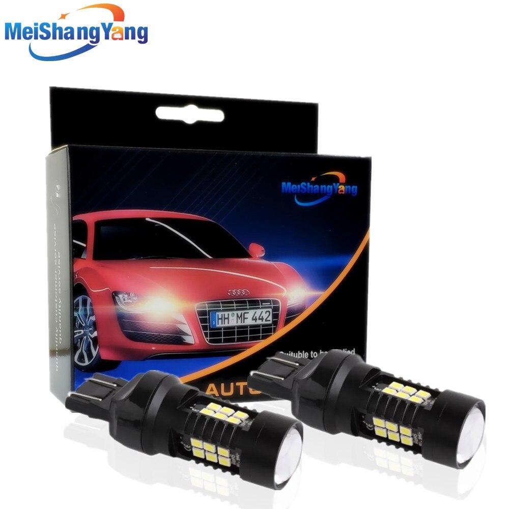 2 шт. 1200Lm T20 7443 Светодиодные лампы 7440 W21/5 Вт светодиодные Автомобильные фары поворотные сигнальные стоп-сигналы парковочные фары Автомобильн...