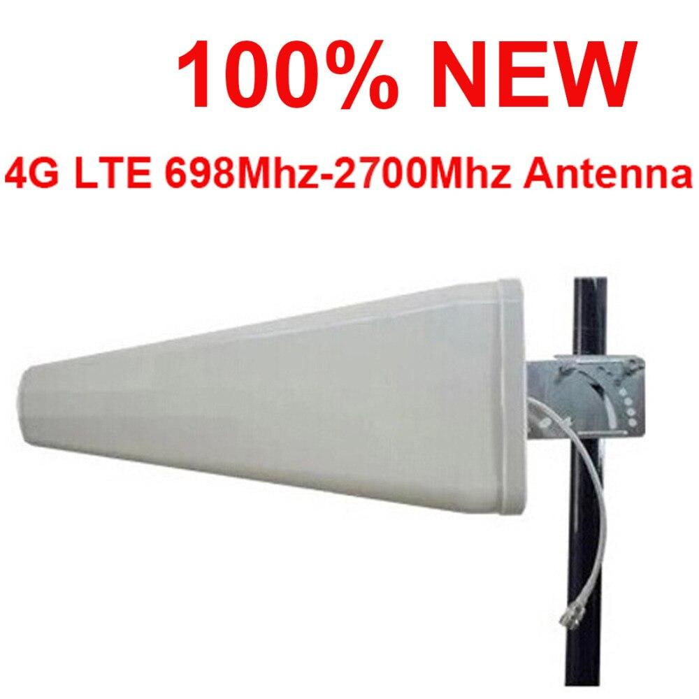 100% nuevo 11dbi gain 4G antena 698-2700Mhz LTE GSM panel LDP exterior antena direccional logaritm FDD TDD Antena de teléfono