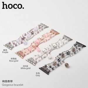 HOCO Agate Bracelet for Apple Watch Band Series 1/2/3/4/5 Girl's Women's Pearl Strap for iWatch 38/40mm 42/44mm Watchbands