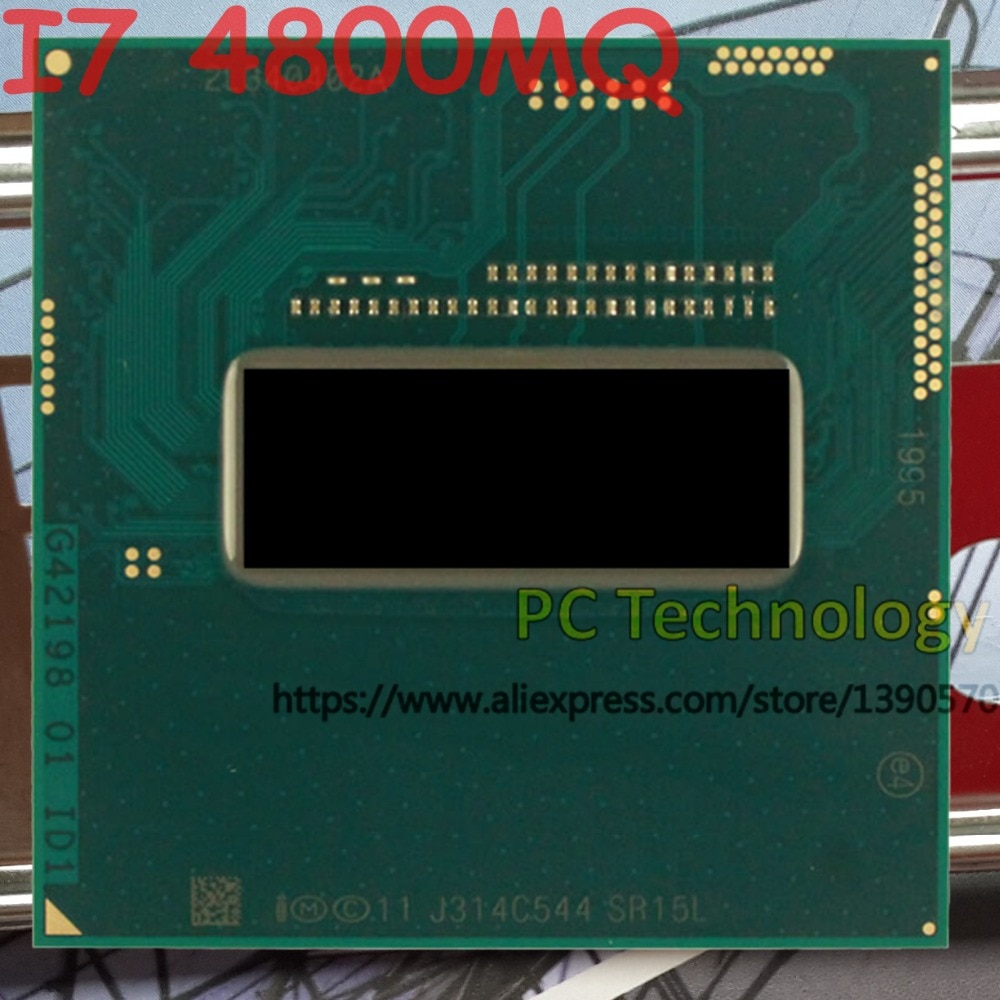 Original Intel Core I7 4800MQ SR15L CPU I7-4800MQ procesador FCPGA946 2,7 GHz-3,7 GHz, 4M Quad core apoya HM86/HM87 envío gratis
