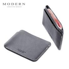Moderne-luxe tout nouveau 100% vache en cuir véritable 0.38 cm Super mince hommes portefeuilles porte-carte organisateur court portefeuille marque célèbre