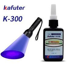 Sterke macht 51led UV light + Kafuter 50 ml UV Uv-uithardende Lijm K-300 Transparant Kristal en Glas Lijm