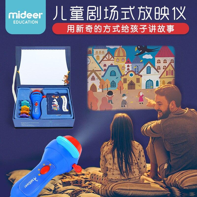 Enfants Storybook projecteur torche jeux de fantaisie jouets éducatifs dapprentissage cadeaux carte en plastique lampe de poche jouets jouets interactifs