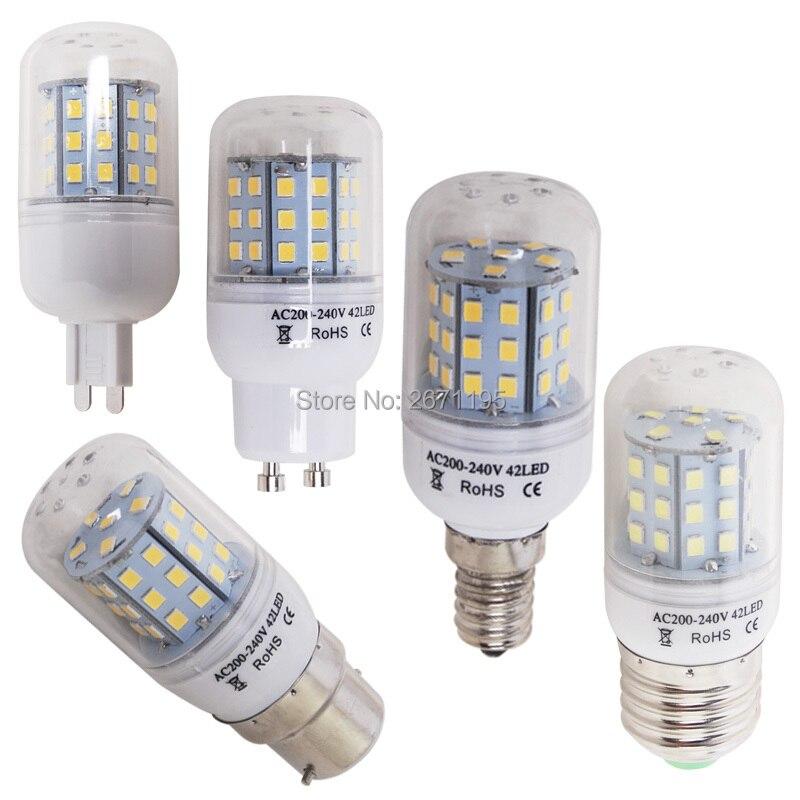 e27 e14 e12 b22 led corn bulb 5730 smd light 2835 SMD 220V Candle cold white warm GU10 G9
