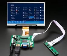 7 hd écran LCD TFT moniteur avec carte de commande de pilote à distance 2AV HDMI VGA pour Lattepanda, framboise Pi banane Pi