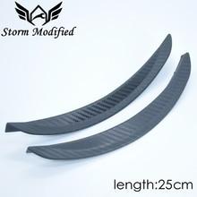 SuTong 1 Pair Carbon Fiber Style Fender Flare Wheel Lip Body Kit Universal 25cm For Car Mudguard Mud Guard Auto Accessories