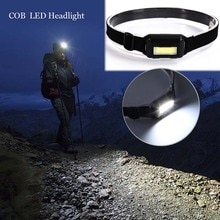 Extérieur étanche COB LED phare phare 3 Modes casque lampe torche pour courir Camping randonnée pêche avec bandeau