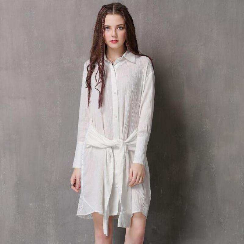 2018 Fashion New women dress,Vintage dress elegant lace dress white shirt dresses Free shipping LH2090