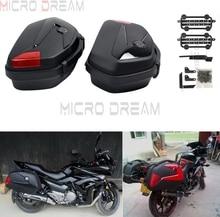 Étui latéral pour moto 2x   Sacoche latérale 20L, étuis à bagages boîte avec support universel pour Honda Yamaha TW200 XJR1300 FZ 6R 250 600 650