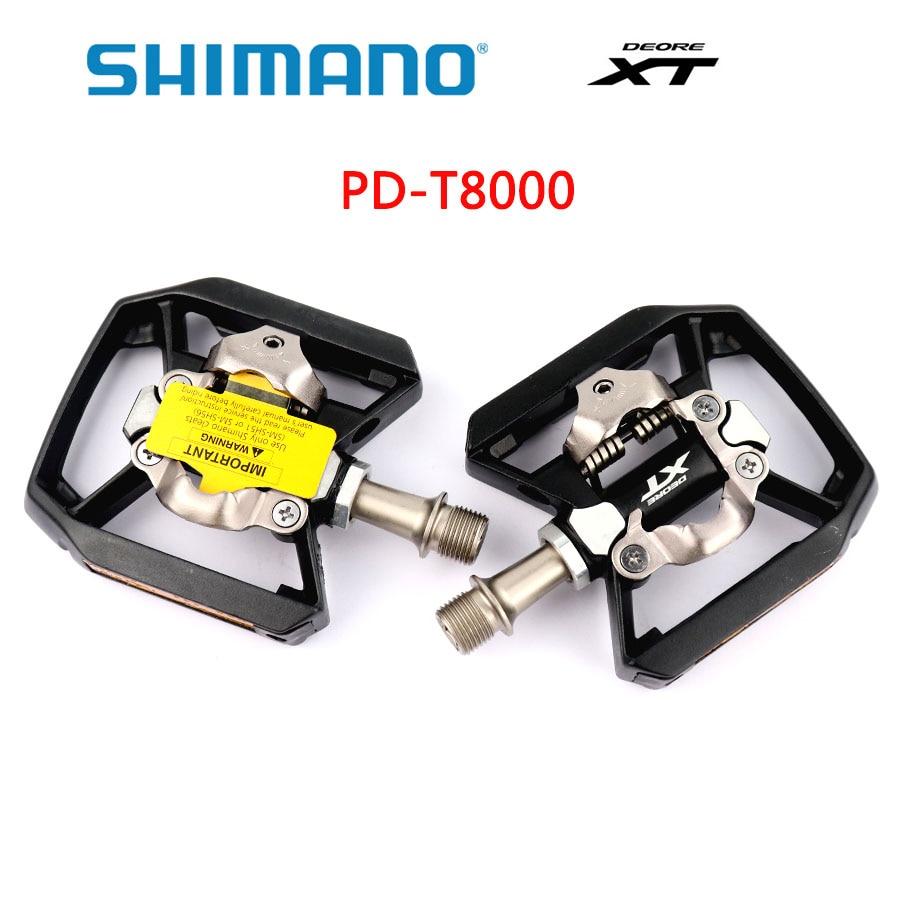Shimano XT-pedales PD T8000 para bicicleta de montaña, autobloqueo, incluyen SM-SH56 accesorios...