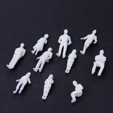 2019 New 10Pcs 150 Scale Model Miniature White Figures Human Model Architectural Model