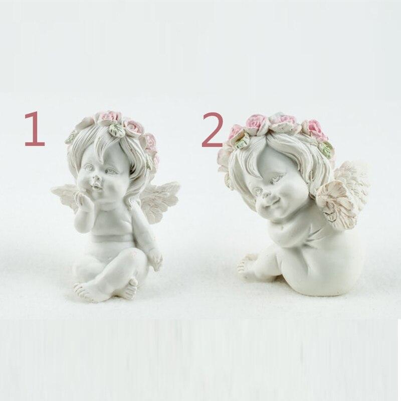 Anjo bonito flor anjos 3d moldes do bebê molde fondant formas sabão vela moldes argila molde de borracha przy dois forma silicone 001