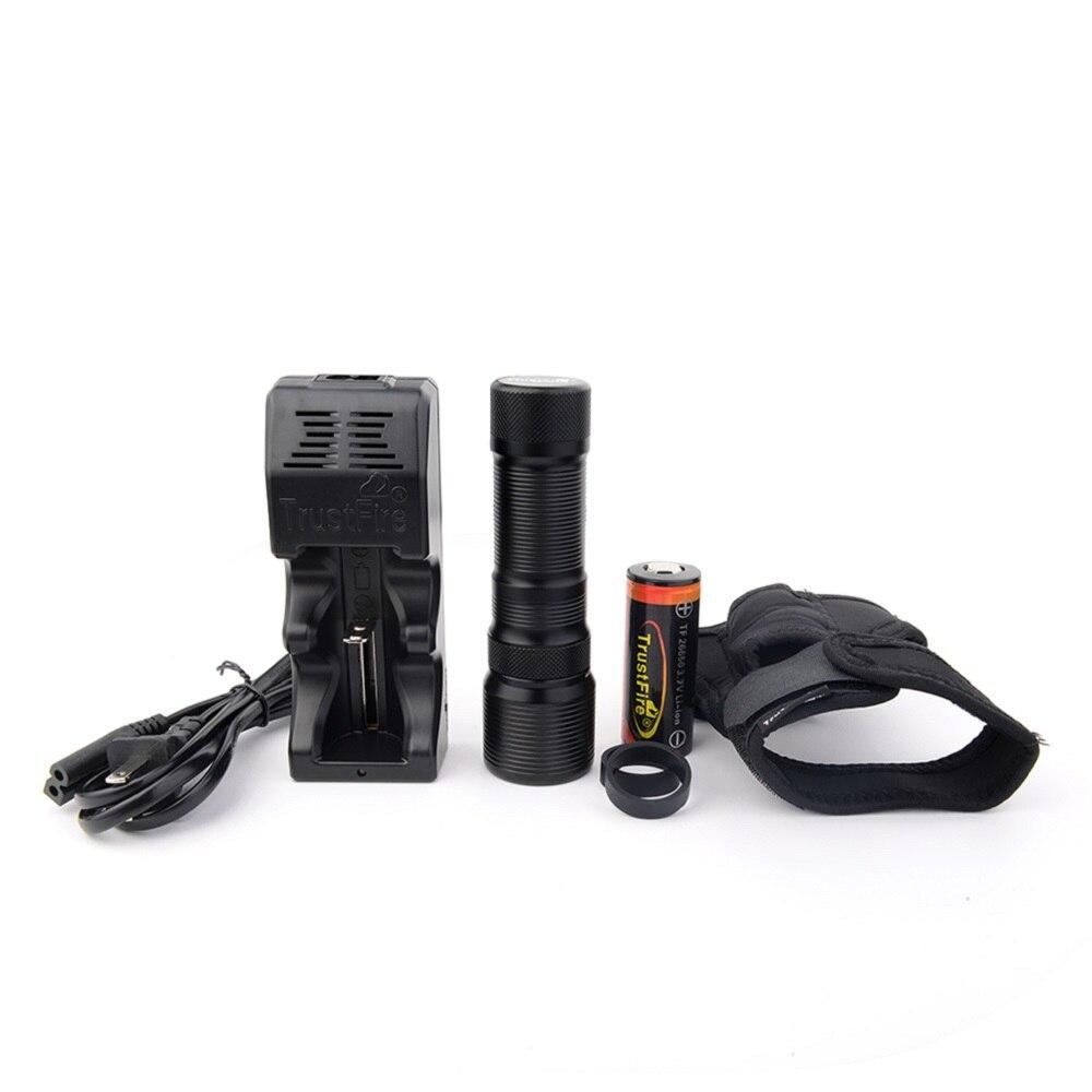 XM-L2 linterna de buceo LED TrustFire DF008 linterna de buceo magnética giratoria impermeable luz subacuática lámpara recargable 26650