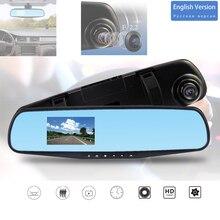3.2 ''Hd Dashcam Auto Dvr Video Recorder Loop Recording Spiegel Dvrs Blauw Spiegel Screeen Voor Auto Achteruitkijkspiegel Recorder dash Cam