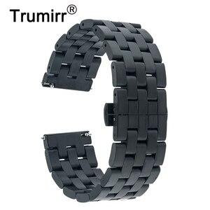 20mm 22mm Stainless Steel Watch Band Quick Release Strap for Casio BEM 302 307 501 506 517 EF MTP Series Wrist Belt Bracelet