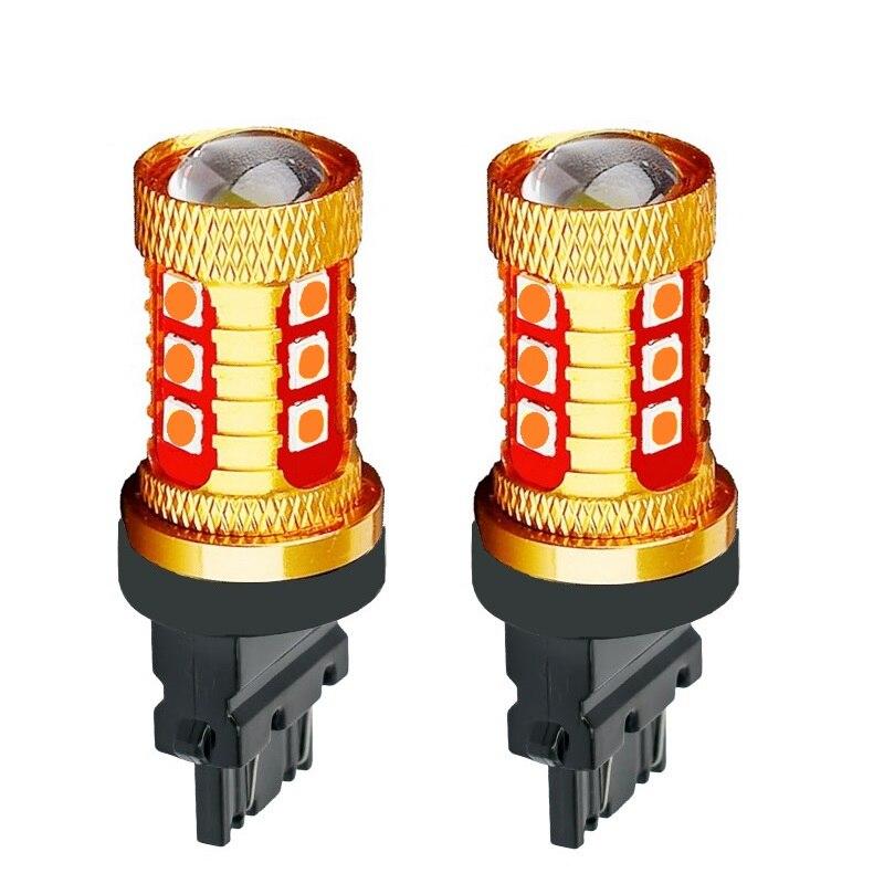 2 uds T25 3157, 3156, 3057, 3457, 4157 P27/7W P27W 1000LM 3030 LED coche de marcha atrás de copia lámparas luces de circulación diurna señal bombilla